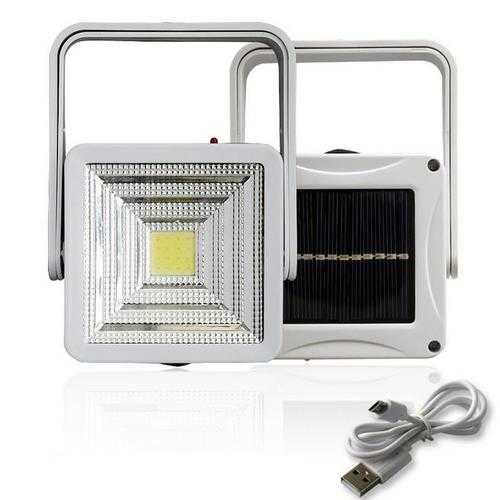 2W Rechargeable Portable Solar LED Flood Light Outdoor Camping Emergency Lamp USB Charging