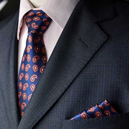 Men Tie And Pocket Towel Suit Business Formal Jacquard Ties