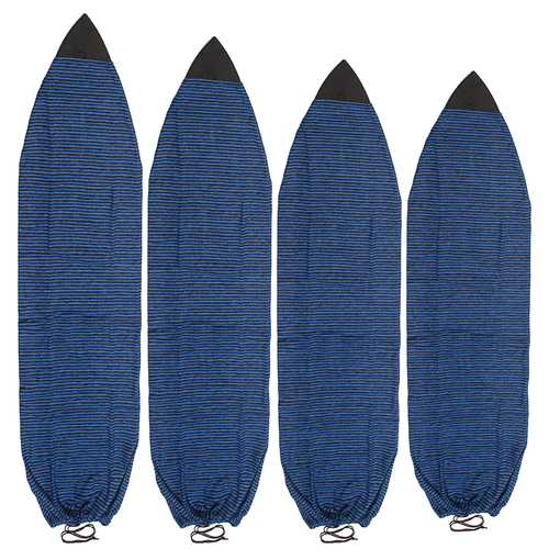 Surfing 6-7ft Surfboard Sock 4 Sizes of Surfboard Cover Knit Stretch terry Soft Quick-Dry Bag
