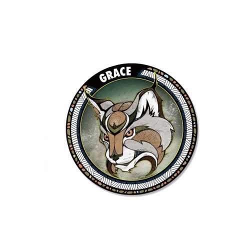 Animal Totem Grace Ambition Vision Team Wisdom Car Stickers Auto Truck Vehicle Motorcycle Decal