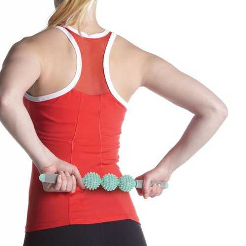 Yoga Light Weight Portable 3 Spikey Ball Roller Raised And Flexible Blocks Of Rolling Stick