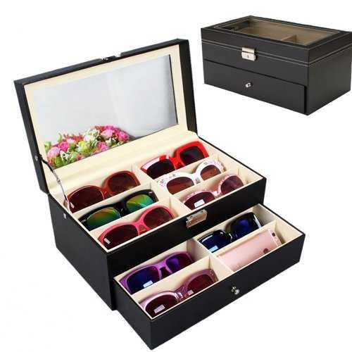 12 Black Eyeglasses Sunglass Oversized Storage Display Case Glasses Organizer