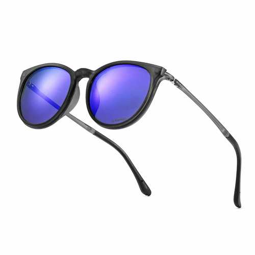 XANES Men Women Polarized Magnetic Clip On Sun Glassess TR90 Ultralight Sun Driving Glasses with Case