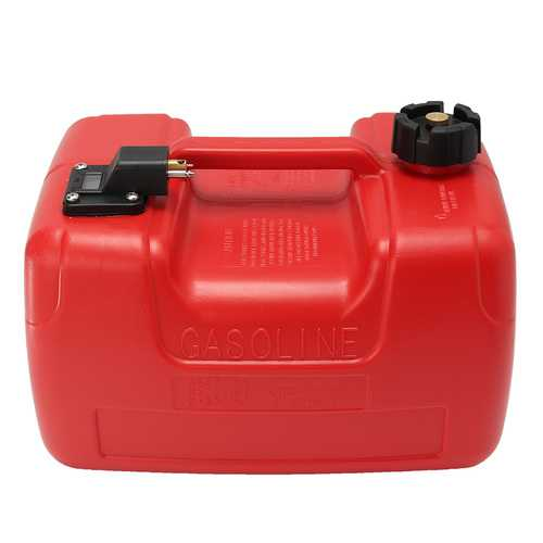 12L Portable Boat Yacht Engine Marine Outboard Fuel Tank Oil Box With Connector