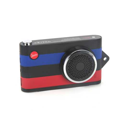 F4 Camera Style 4000mAh AUX-in Hands Free Call Emergency Powerbank Remote Shutter Bluetooth Speaker