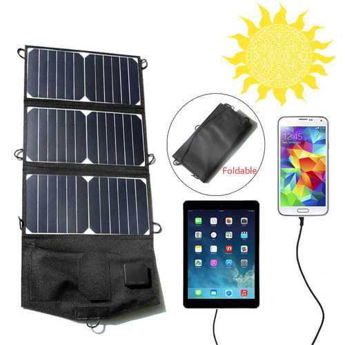 21W 5V Foldable Solar Panels Charge Solar Drip Board USB Charging For Iphone PSP