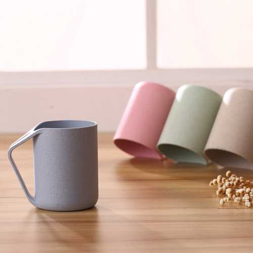 Simple Environmental Protection Wheat Fiber Wash Cup Drink Cup Tumblers for Water Coffee, Tea Milk Juice