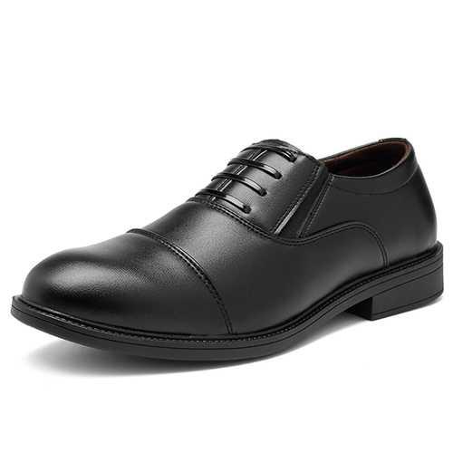 Men Comfy Leather Slip On Formal Shoes