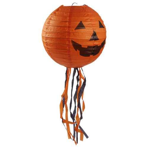 10 Pcs Halloween Pumpkin Paper Lantern 44cm Outdoor Props Party Supplies Decoration