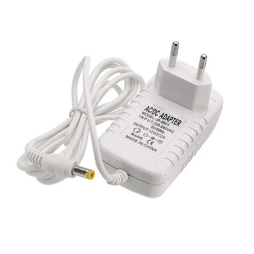 AC220-240V to DC12V 2A 24W EU Plug Power Supply Adapter Transformer for LED Strip Light