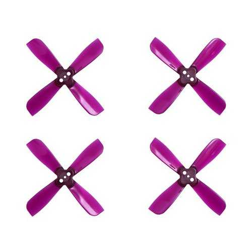 10 Pairs Gemfan 2035 2X3.5X4 4 Blade 1.5mm Mounting Hole CW CCW Propeller Purple for RC Drone