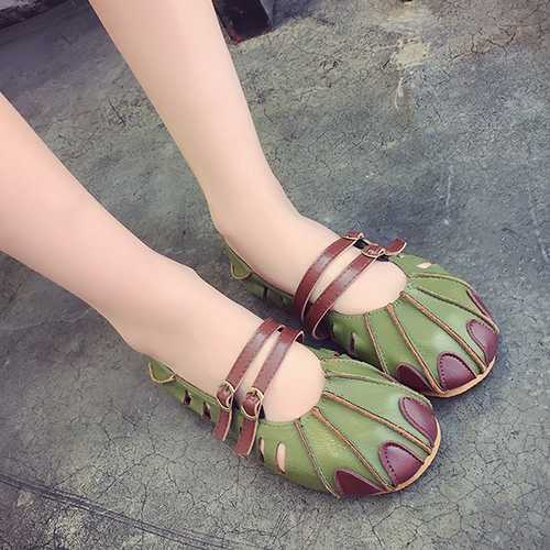 Round Toe Slipper Summer Casual Flat Womens Beach Sandals