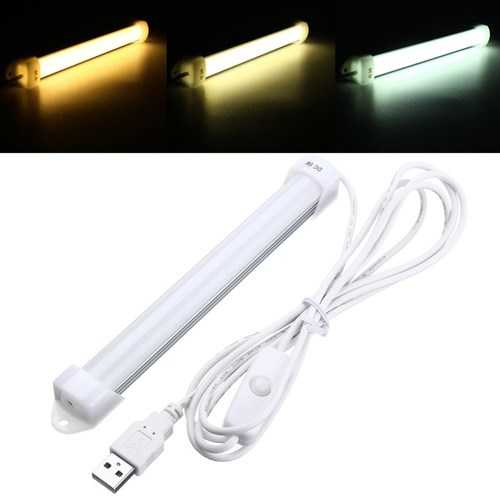 18CM 3W 5630 SMD USB 14LEDs Rigid Strip Hard Bar Light with Cable On / Off Switch DC5V