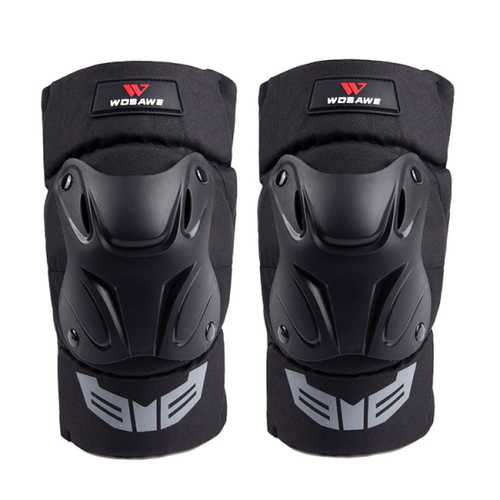 14.2-19.7inch Universal Motorcycle Racing Knee Pads Armor Protective Guard Black