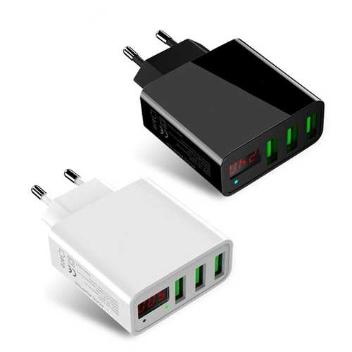 Bakeey 3A LED Display 3 Ports EU Plug Fast Travel Wall Charger For iPhone X 8 Plus OnePlus5 Xiaomi 6