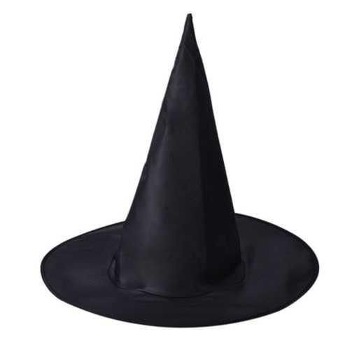 3Pcs Halloween Witch Black Pointy Hat Adult Kids Cosplay 37 x38cm