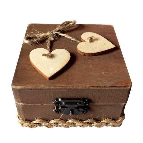 Rustic Wedding Personalized Ring Bearer Box Loving  Wedding Gift