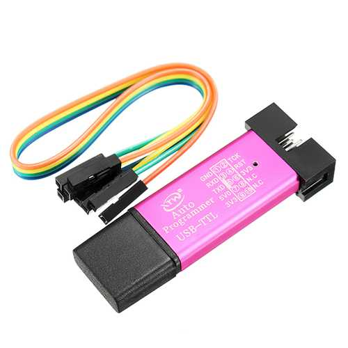 5pcs 5V 3.3V SCM Burning Programmer Automatic STC Download Cable USB To TTL USB To Serial Port Baud Rate 115200 500MA Self-Recovery Fuse CH340 + SCM Control Core STCISP Fully Isolated