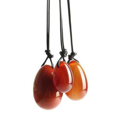 3Pcs Set Massage Rhodonite Natural Red Agate Jade Eggs Exercise Ball