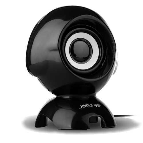 Q1 Mini Portable Dog Appearance Universal 2 in 1 Cable USB Plug 3.5mm Audio Plug Speaker