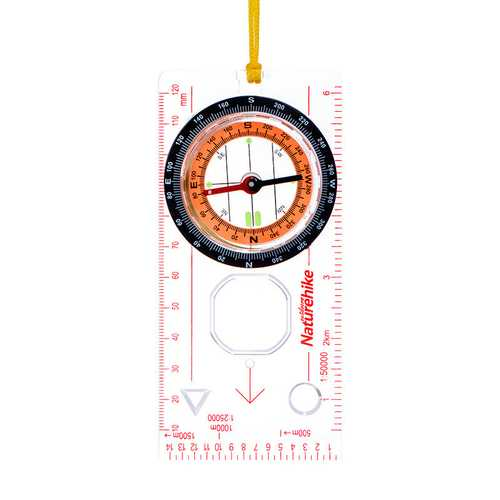 NatureHike Outdooors Hand Held Compass Light Level Camping Directional Base Plate Ruler Map Scale