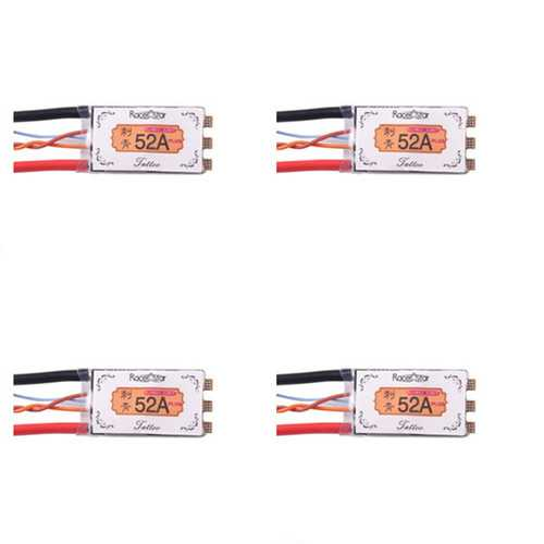4XRacerstar Tattoo+ 52A BLheli_32 GD32F150 ESC Dshot1200 Ready Current Sensor LED Telemetry for RC Drone