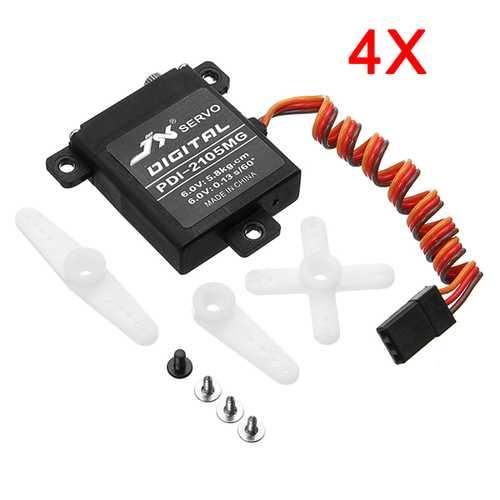 4X JX Servo PDI-2105MG 21g High Torque Digital Standard Servo For RC Model