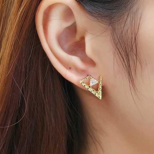 JASSY® 18K Gold Plated Asymmetric Earrings for Women