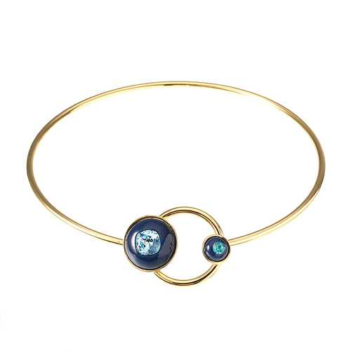 JASSY® Elegant Women Necklace 18K Gold Plated Fashion Planet Sapphire Gemstone Collar Jewelry Gift