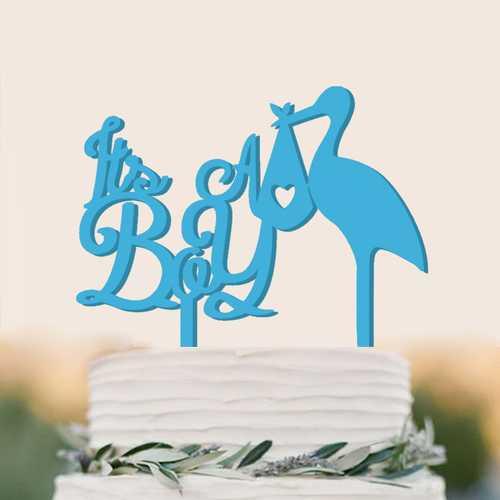 Acrylic Flamingo Cake Wedding Cake Decoration