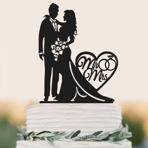 Acrylic Bride And Groom With Love Cake Cake Wedding Cake Decoration
