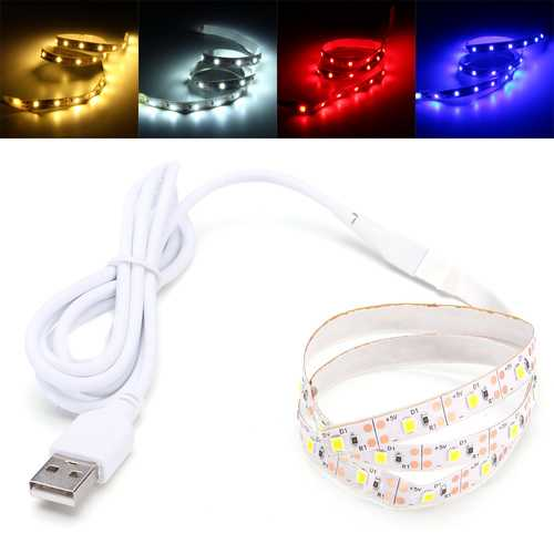0.5M SMD2835 Not-waterproof USB LED Strip Party Light TV PC Background Backlight DC5V