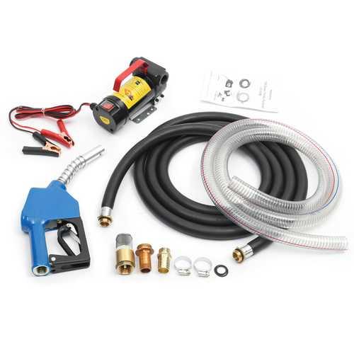 12V 175W Portable Diesel/Kerosene Electric Transfer Pump Fluid Extractor 45L/min