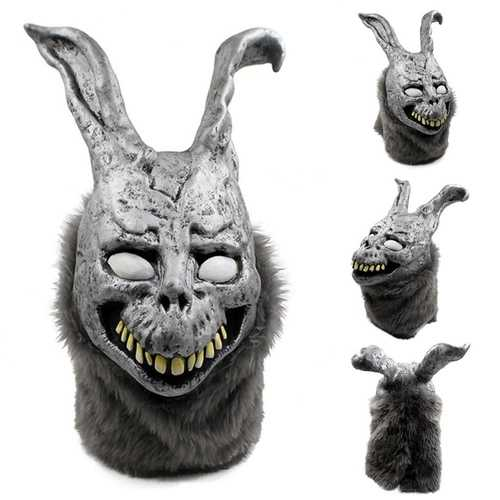 KALOAD H11 Hunting Latex Scary Rabbit  Animals Mask Full Face Cosplay Horror For Halloween Terror