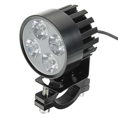 12-80V 960lm Motor Bike Scooter Headlamp Bicycle ATV Spot Lightt Black White
