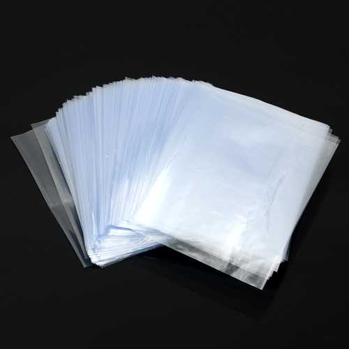 200Pcs PVC Heat Shrink Wrap Bags Clear Film DIY Crafts Gifts Bottle Packaging Bags