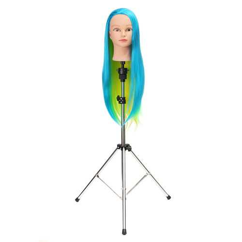 Adjustable Wig Head Tripod Stand Holder for Hairdressing Training Mannequin Practice