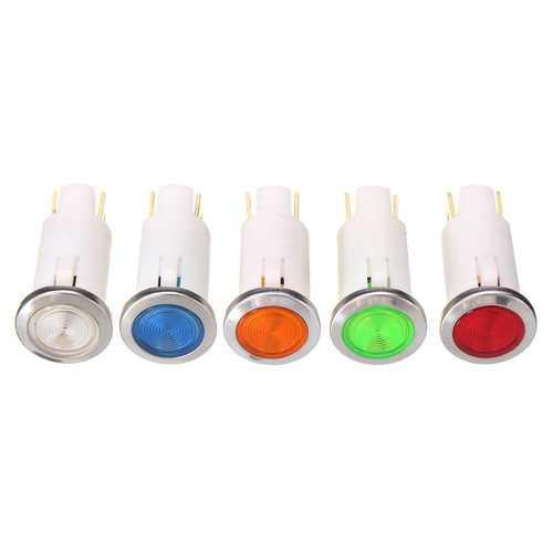 12V 12.5mm LED Indicator Pilot Dash Dashboard Panel Warning Light Lamp