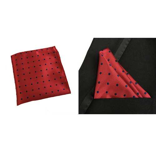 Men Polka Dots Cotton Pocket Square