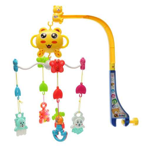 Baby Plaything Song Baby Crib Bed Bell Mobile Kid Toy Electric Musical Fun Comfortable Cute Toys
