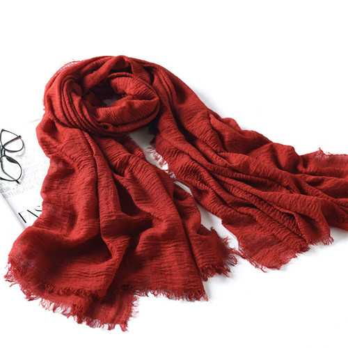 LYZA 200CM Winter Oversize Blanket Wrap Polyester Scarf Warm Shawl For Women Long Scarf