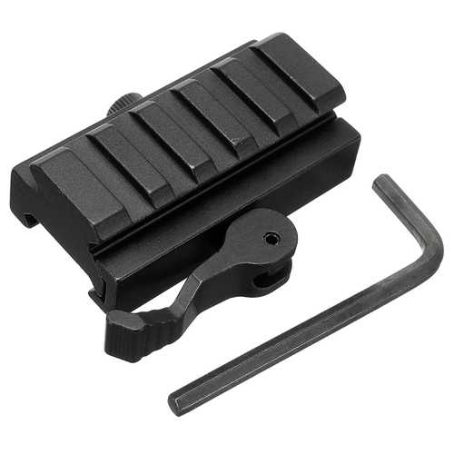 Quick Release Low Profile Compact Riser Quick Detachable 20mm Picatinny Rail Mount Adapter