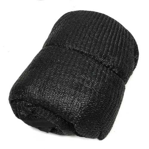 180x450cm Black Anti UV Sunscreen Roll Shade PE Cloth Shade Net Black 8 Pin
