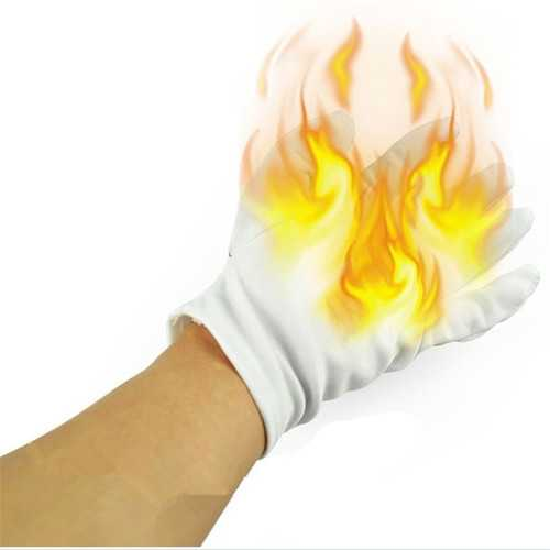4Pcs Magic Prop Palm Fire Gloves Trick Funny Toys
