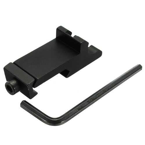 Tactical 45 Degree Angle Offset Side Adapter RTS 20mm Picatinny Laser Scope Rail Mount
