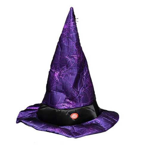 Electric Speak and Move Witch Hat Halloween Decoration Props Fancy Dress Easter Show Hat