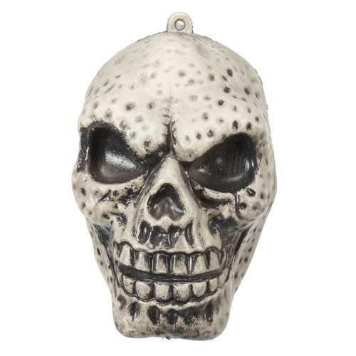 Halloween Decoration Props Luminous Plastic Big Skull Ornament Sound Simulation