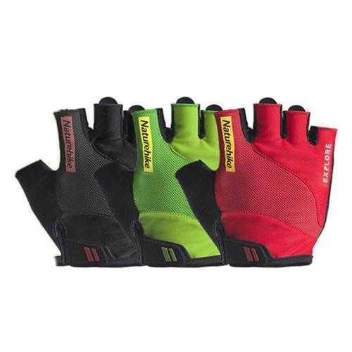 BIKIGHT Outdoor Gloves Summer Riding Fitness Half Reflective Glove Anti Skid Wear Breathable Gloves