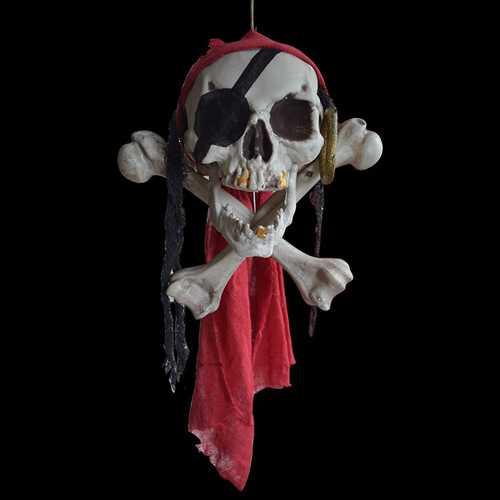 Halloween Buccaneer Secrets Escape Haunted House Decorated Terror Skull Bone One-Eyed Pirates Hanging Skull Head