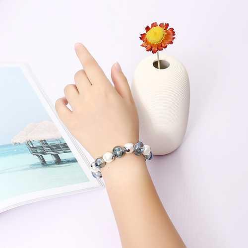 JASSY® Pearl Bead Bracelet Anallergic Platinum Plated